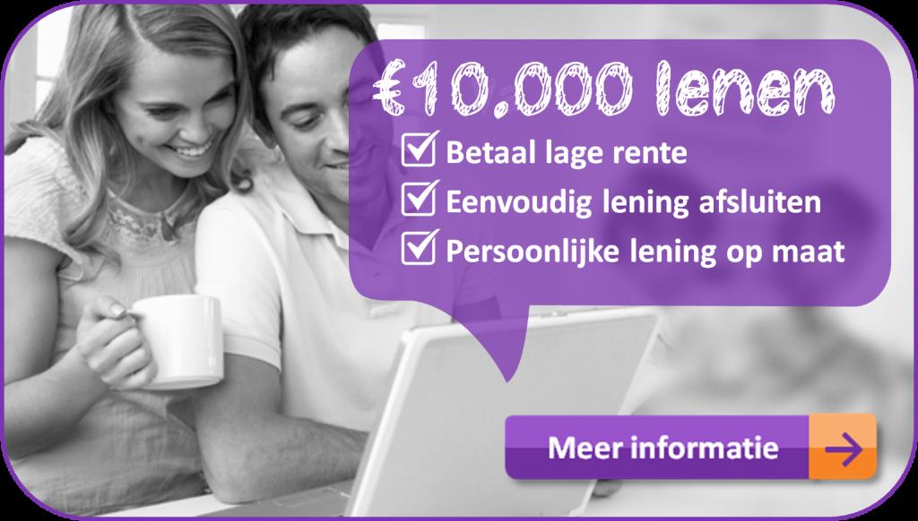 1000 euro lenen vergelijken